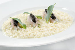 Lemon Risotto with Scampi and Caviar