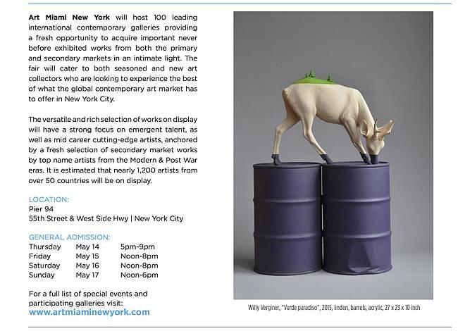 Liquid art system at Art Miami New York 2015