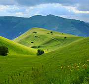 Sea and mountains of Marche