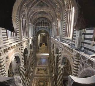 Heaven's Door: the Duomo of Siena from above. Hotel