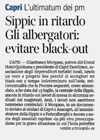 Corriere del Mezzogiorno - Sippic in ritardo<br />Gli albergatori: evitare black-out