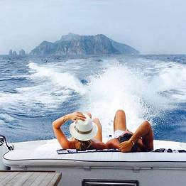 Tecnomar Boat Tour - Transfer Capri - Sorrento su Motoscafo Itama 38 Max III